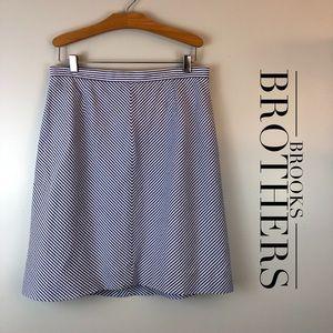 Brooks Brothers Seersucker A-line Skirt Sz 10